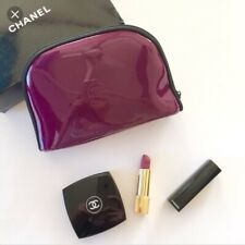 CHANEL COSMETIC / MAKEUP BAG POUCH CLUTCH Burgundy Color VIP GIFT