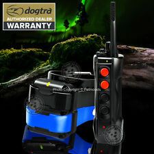 Dogtra EDGE RT Expandable 2-Dog Remote Training Collar BLUE BLK Strap Waterproof