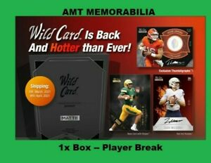 Najee Harris Pittsburgh Steelers 2021 WILD CARD Matte Black 1X BOX BREAK #7