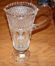 Pedestal Pitcher, Bleikristall Crysal (Made in West Germany) 11 1/2in. tall