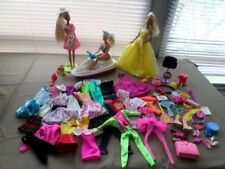 GREAT HUGE LOT OF BARBIE CLOTHES WITH DOLLS AND ACCESSORIES.