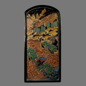 FINE CHINESE CARVED BLACK INK STICK WITH JUMOTANG MARKED (K1048)