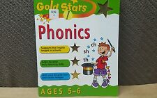Gold Stars Phonics Ages 5-6 Year old Learning Workbook
