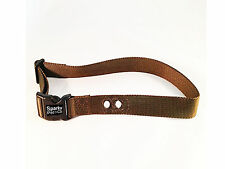 "Brown Universal Underground Dog Fence Receiver Replacement Strap 3/4"" 2 Holes"