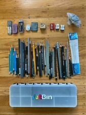 Lot of drawing art supplies with case