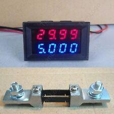 200V 200A + Shunt DC 4 Digital Voltmeter Ammeter LED Amp Volt Meter 12v auto car