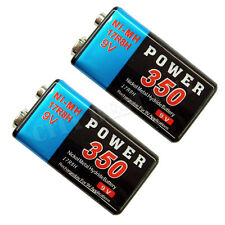 2 x 9V Volt 350mAh PP3 NiMH Rechargeable Battery 17R8H Power