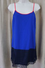 Juicy Couture Sleepwear Sz S Blue Dark Lapis Color Block Cami Nightie Pajamas