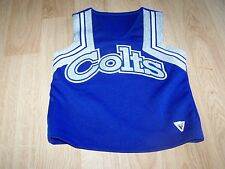Youth Size Xl Varsity Cheerleader Cheer Uniform Top Colts Blue Silver White Euc