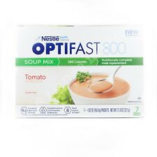 OPTIFAST 800 TOMATO SOUP -1 BOX - 7 SERVINGS - FRESH - NEW & IMPROVED FORMULA