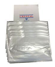 "50 Clear Plastic Polythene Bags Strong Packing Poly Bags 12""x18""  120Gauge"