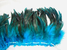 """25+ BRONZE TURQUOISE TEAL BLUE ROOSTER SCHLAPPEN CRAFT FEATHER 5""""-7""""L"""
