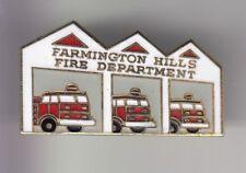RARE PINS PIN'S .. POMPIER FIRE CAMION TRUCK USA FARMINGTON HILLS MICHIGAN ~DL