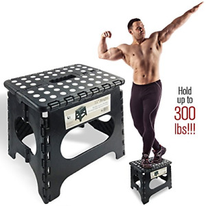 """Super Strong Folding Step Stool - 11"""" Height - Holds up to 300 Lb - The foldable"""