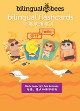 Bilingual English - Mandarin Chinese - FLASHCARDS - Birds, Insects & Sea Animals