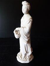 Statuette femme chinoise porcelaine blanche de Chine XIX ème antique chinese 中国