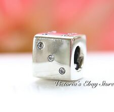 Authentic Pandora Lucky Dice Sterling Silver Charm Clear CZ 791269CZ