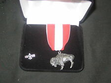 Silver Buffalo Award Medal with Lapel Pin, Sterling       eb07