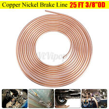 "Universal 25Ft Copper Brake Fuel Line Hose Pipe Trans Tubing 3/8"" Od Coil Roll"
