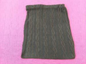 Women / Girls Mixed Fibres Elastic Waist A-Line Shaped Ladies Skirts Brown S/M