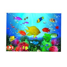 PVC Aquarium Background Fish Tank Backdrop Static Cling Wallpaper Sticker