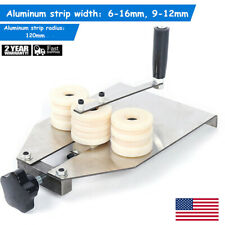 New listing Manual Hollow Aluminum Strip Bender Bar Bending Machine 6-16mm/9-12mm 2 Mold hot
