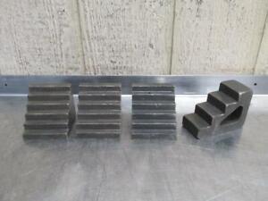 "3"" x 3"" & 4"" x 3"" x 2"" Steel Step Blocks Machinist Right Angle Plate Setup Table"