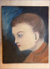 HSP Huile sur Panneau Portrait de Femme Début XX eme n°1