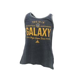 LA Galaxy Official MLS Adidas Apparel Kids Youth Girls Size Tank Top Shirt New