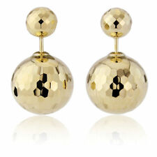 Yellow Gold Screw Back (pierced) Fine Earrings