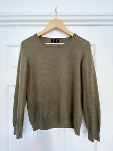 APC Ladies 100% Wool Green Jumper / Sweater / Top Size S £200