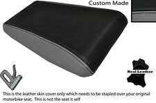 BLACK & GREY CUSTOM FITS LAVERDA 650 668 REAR LEATHER SEAT COVER ONLY