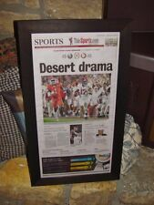 ALABAMA ORIGINAL FRAMED NEWSPAPER 2015 NCAA FOOTBALL CHAMPIONS SPORTS SECTION