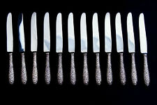 Lot of 12 Manchester SOUTHERN ROSE Sterling Silver New French Hollow Knives