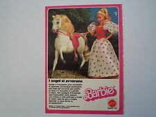 advertising Pubblicità 1984 BARBIE MATTEL