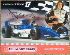 Signed NELSON PHILIPPE 2004 PROMO SHEET In-Person Autograph Champ Car CART