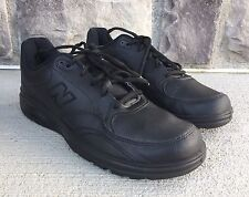 New Balance MW812BK Lace Up Walking Black Leather Oxfords Sneakers SZ US 11.5 D