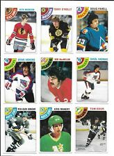 1978-79 OPC Hockey:Lot of 9 different