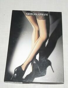 Giorgio Armani Tights Pantyhose Black 9180 10455 Wolford Medium NEW