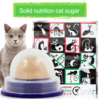 Healthy Cat Solid Nutrition Snack Catnip Sugar Candy Licking Toys Energy Ball UK