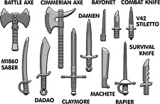 Brickarms Blade Weapons Pack 2016 for Lego Minifigures