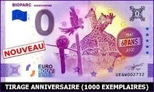UE GW-3 / BIOPARC / BILLET SOUVENIR 0 € / 0 € BANKNOTE 2021-3*