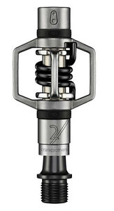 Crank Brothers Egg Beater 2 MTB Pedals Silver with Black Spring Eggbeater