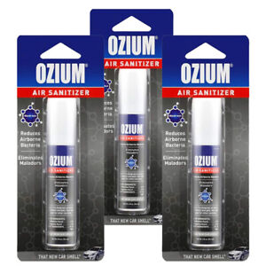 Ozium Air Cleaner 0.8 oz Spray, That New Car Smell 3-PACK
