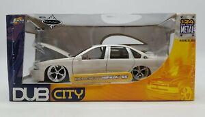 "Jada Dub City 1996 Chevy Impala SS 1/24 Diecast Pearl White 22"" Wheels by KMC"