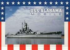 USS Alabama, Battleship Parkway, Mobile, Alabama, World War II --- Postcard