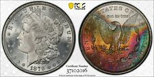 1879-S PCGS MS-65 Morgan Silver Dollar. MONSTER Rainbow Toning. No Reserve!!