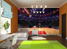 Basketball court. Sport arena. Photo Wallpaper Wall Mural DECOR Paper Poster