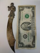 Old letter opener dagger shaped silver 800 Oriental Chinese Japan man