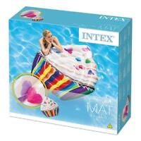 "INTEX CUPCAKE MAT INFLATABLE 56"" X 53"" GIANT FLOAT POOL LOUNGER LILO"